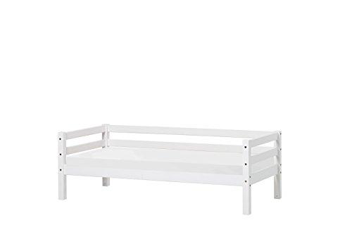 Hoppekids Basic Junior-/Kinder-/Jugendbett, Kiefer massiv, Liegefläche 90 x 200 cm, Holz, weiß, 208 x 98 x...