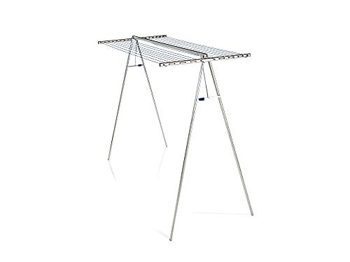 Leifheit Hochtrockner Linomaxx 320 Aluminium mit 32 m Wäschleine, Wäscheständer mit rostfreien Aluminium-...