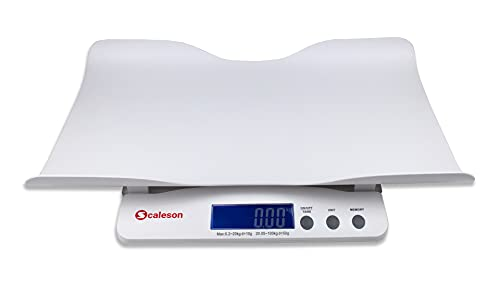 SCALESON S212 Multifunktionale Baby- und Kinderwaage in modernem Design | Messungen ab 200g Mindestgewicht | &...