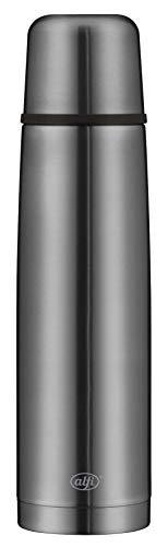 alfi Isolierflasche Edelstahl isoTherm Perfect, Edelstahl grau 1L, Thermosflasche mit Trinkbecher 5737.234.100...