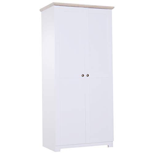 HOMCOM Aufbewahrungsschrank Mehrzweckschrank Kleiderschrank Wäscheschrank Kommode 4 Fächer 2 Türen Holz...