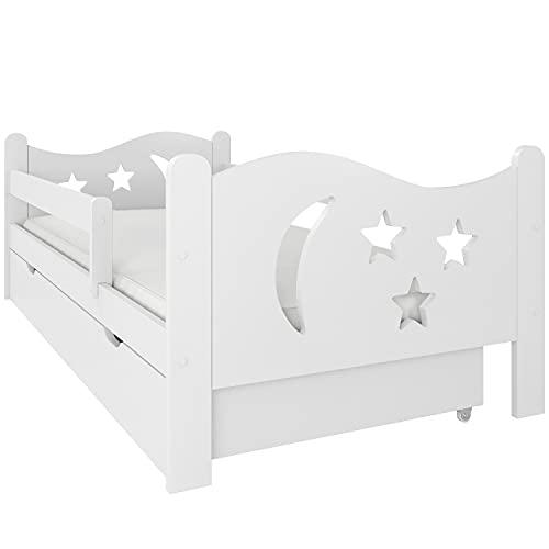 (80x160 mit Matratze, Weiß) NeedSleep® Rausfallschutz Kinderbett Komplett 80x140 80x160 80x180 Bett...
