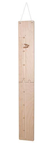 Rayher 62985505 Messlatte aus Holz, FSC zertifiziert, natur, von 60 – 140 cm, 2 Teile zum Zusammenkleben,...