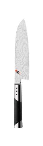 MIYABI 7000D Santoku Messer, 18 cm Klinge, CMV60 Stahl, Damast Design, 65 Lagen, traditioneller D-Griff,...