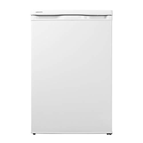 MEDION Kühlschrank (130 Liter, 85cm Höhe, Glasablagen, Gemüseschublade, unterbau-fähig, Freisetehnd, 91...