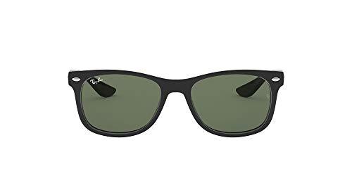 Ray-Ban Unisex New Wayfarer Junior Sonnenbrille, Schwarz (Gestell: schwarz, Gläserfarbe: grün klassisch...