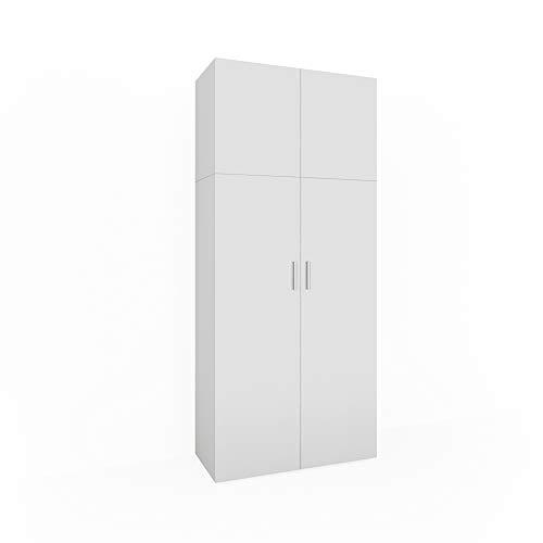 Vicco Mehrzweckschrank Ingo weiß - 2 Türen Universal Schrank Staubsauger Aktenschrank Büroschrank...