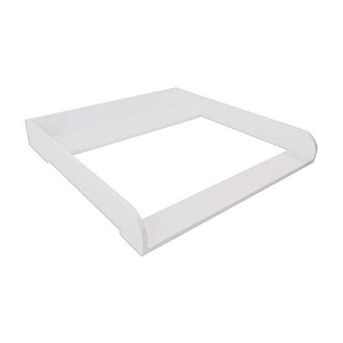 Puckdaddy Wickelaufsatz Lasse – 80x80x10 cm, Wickelauflage aus Holz in Weiß, hochwertiger...