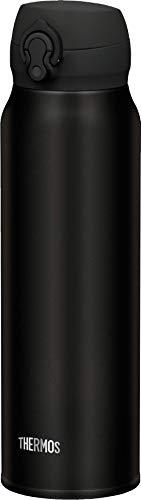 THERMOS Thermosflasche Edelstahl Ultralight, schwarz 750ml, Isolierflasche extrem leicht 275g Trinkflasche...