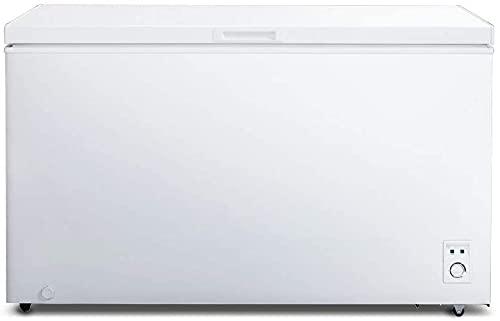 CHiQ Gefrierschrank Groß 400 L | Gefriertruhe mit statischem Kühlungsystem | 83,5 x 136,5 x 73 cm (HxBxT) |...