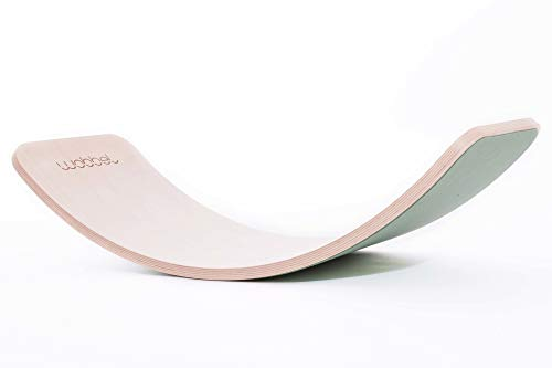 Wobbel Balanceboard transparent lackiert forest grün yogaboard