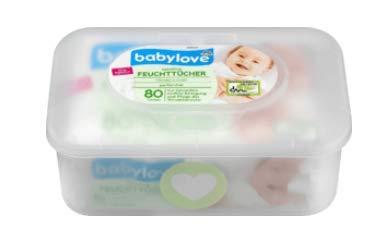 Baby Feuchttücher sensitive mit Box, Besonders weich und saugfähig - Zur Reinigung des Windelbereichs - 80...