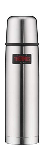 THERMOS 4019.205.075 Thermosflasche Light & Compact, Edelstahl mattiert 0,75 l, Spülmaschinenfest, 18 Stunen...