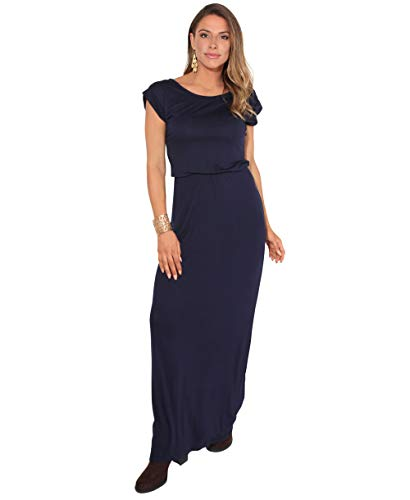 KRISP 3269-NVY-16 Damen Leichtes Kleid (Marineblau, Gr.44)