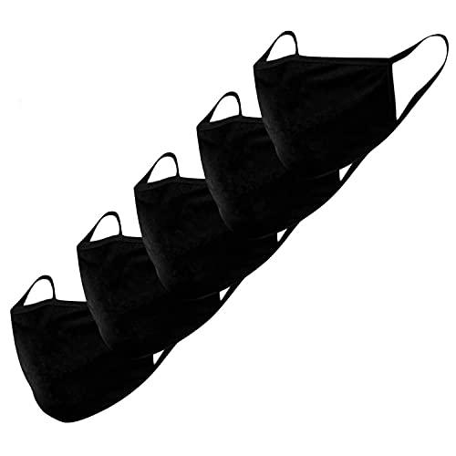 KUNSTIFY Stoffmasken - 5er Set - Baumwolle - Mund-Nasen-Schutz - Behelfsmasken - waschbar - unisex -...