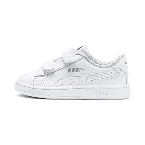 PUMA Unisex Baby Puma Smash V2 L V Inf Sneaker, Puma White Puma White, 23 EU