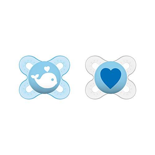 MAM Start Schnuller im Doppelpack, speziell für Früh- und Neugeborene, Silikonschnuller aus speziellem MAM...