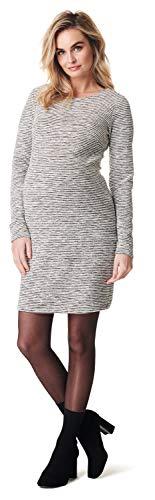 Noppies Damen Dress ls Heather Kleid, Mehrfarbig (Off White C010), 40 (Herstellergröße: L)