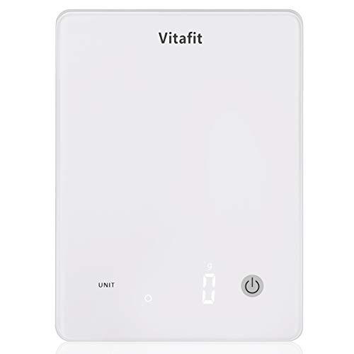 Vitafit 10kg Digitale Küchenwaage,Digitalwaage mit Helles LED Anzeige, Elektronische Waage mit Hohe...