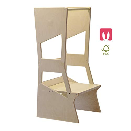 Moka 2.0 alle Natural Learning Tower Montessori Höhenverstellbare Pläne - Küchenhelfer