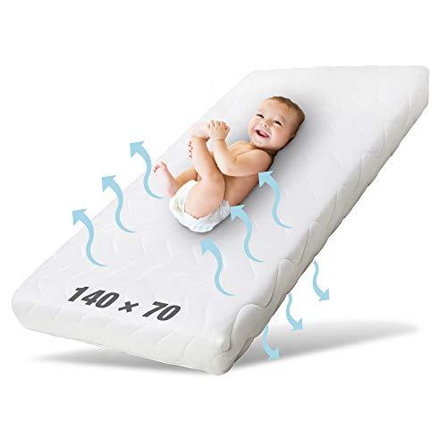Ehrenkind® Babymatratze Pur | Baby Matratze 70x140 | Kindermatratze 70x140 aus hochwertigem Schaum und...