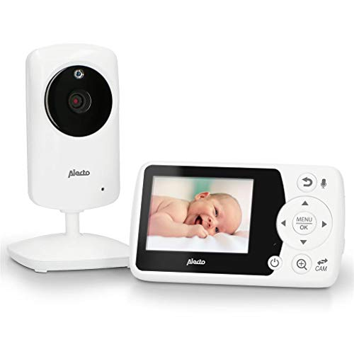 Alecto DVM-64 Funk Kamera Babyphone (100% störungsfrei & privat) mit schwenkbarer video Kamera, Nachtsicht,...