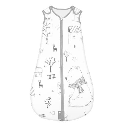 Yoofoss Schlafsack 100% Baumwolle Baby Schlafsack 90x55cm Wald-Muster Babyschlafsack Neugeborene im 18-36...