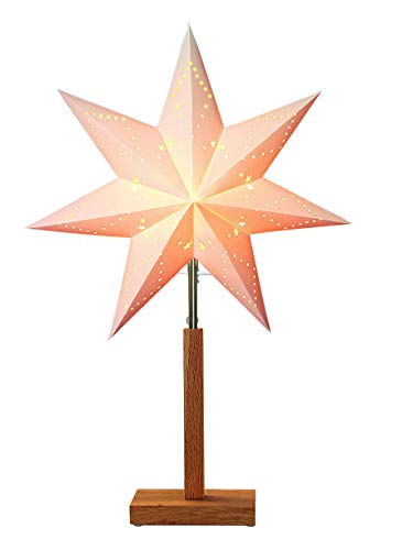 Star Stern''Karo Mini'' Material: Holz/Papier, Farbe beige, Höhe, 55 x 34 cm
