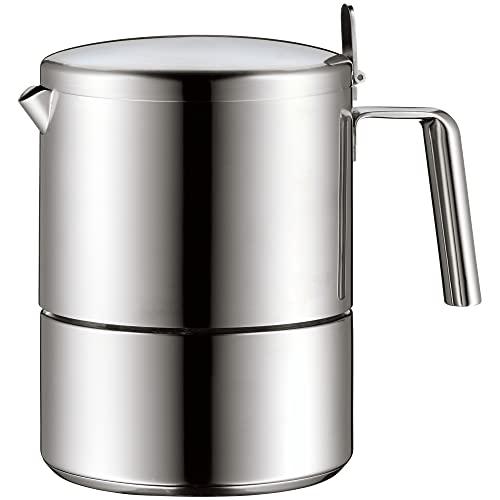 WMF Kult Espressokocher 300ml, Espressomaschine für 6 Tassen, Cromargan Edelstahl mattiert, Induktion,...