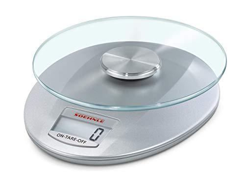 Soehnle Digitale Küchenwaage Roma mit 5 Kilo Tragkraft und 1-g-Wiegepräzision, Waage mit praktischer...