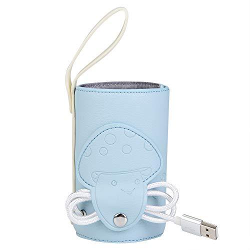 USB Babyflaschenwärmer Tasche Tragbarer Milchflaschenwärmer Heizungswärmer Baby Isolierungs Thermostat...