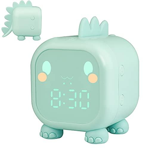 Kinderwecker Digital, Dinosaurier Wecker mit Nachtlicht Snooze Timer-Temperatur Kinder Schlaftrainer , Wecker...