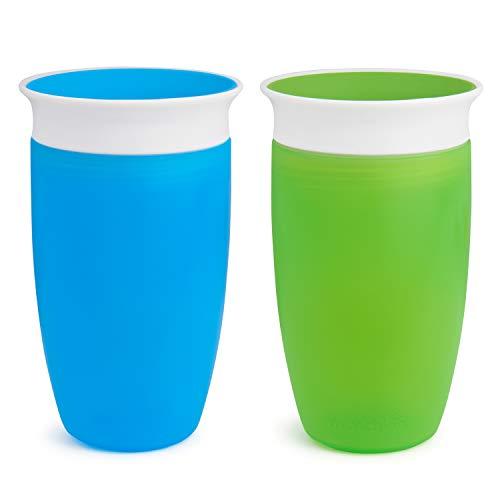 Munchkin Miracle 360ᵒ Trinkbecher, auslaufsicher, ab 12 Monaten, blau/grün, 296 ml (2er Pack)
