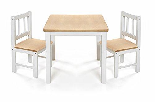 Reer 69001 Kindersitzgruppe Eat&Play, Kindertisch mit zwei Kinderstühlen