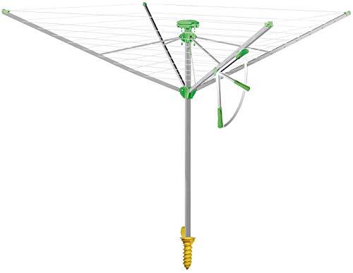 Juwel Wäschespinne Novaplus 500 Easy (Ein-Hand-Spannautomatik, stabil, mit Eindrehbodenhülse,42,5 m...