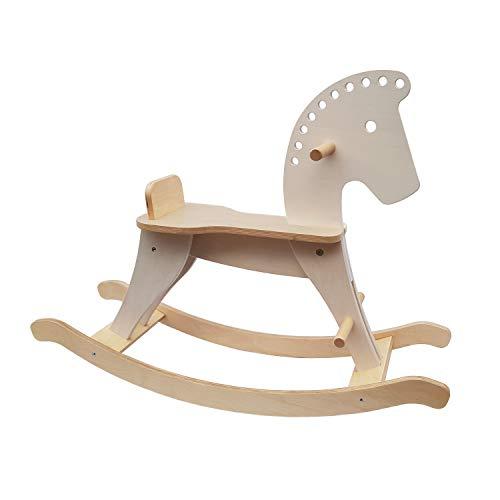 Schaukelpferd aus Holz: Spielzeug ab 1 Jahr, Ring abnehmbar inkl. Umbausatz, plastikfrei