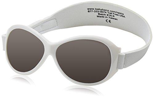 Baby Banz 00065 Sonnenbrille Retro Kidz mit elastischem Neoprenband, für Kopfumfang 40-52 cm (circa bis 2...