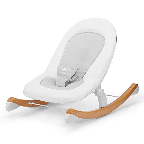 Kinderkraft Babyliege FINIO, Babywippe aus Holz, Licht, Einfach zu Transportieren, mit Liegefunktion,...