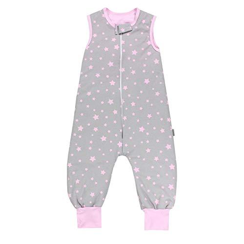TupTam Baby Unisex Winter Schlafsack mit Beinen, Farbe: Sterne Rosa / Grau, Größe: 92-98