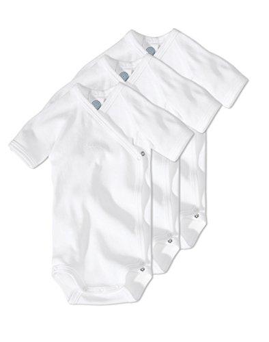 Sanetta Unisex Wickelbody Kurzarm Organic Cotton im 3er Pack 302200 Gr.50