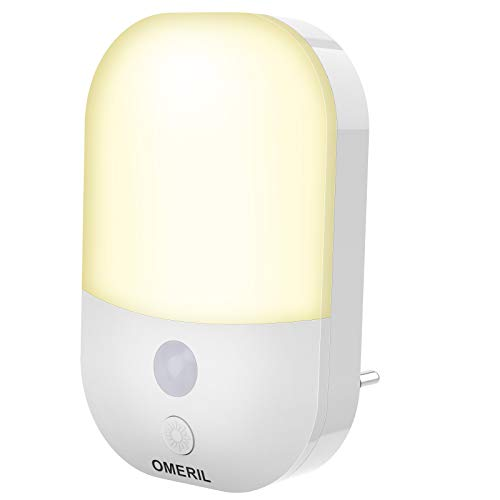 Nachtlicht Steckdose mit Dämmerungssensor, OMERIL LED Nachtlicht Kinder 3 Modi(Auto/ON/OFF), Nachtlicht mit...