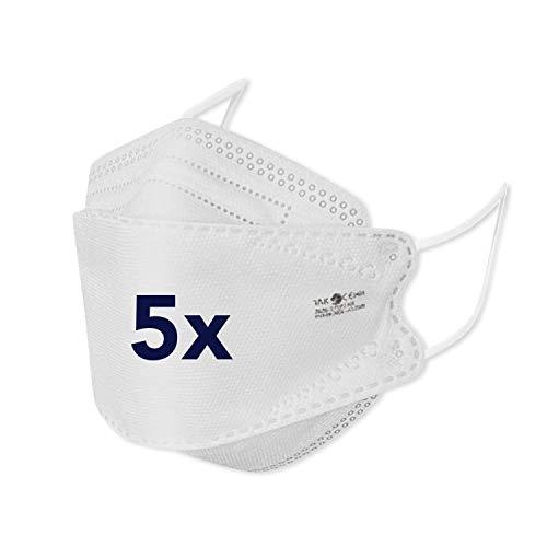 bamb FFP 2 Maske CE Zertifiziert | 5 Stück | CE 1463 (EN149:2001+A1:2009) | Einweg Mund und Nasenschutz FFP2...