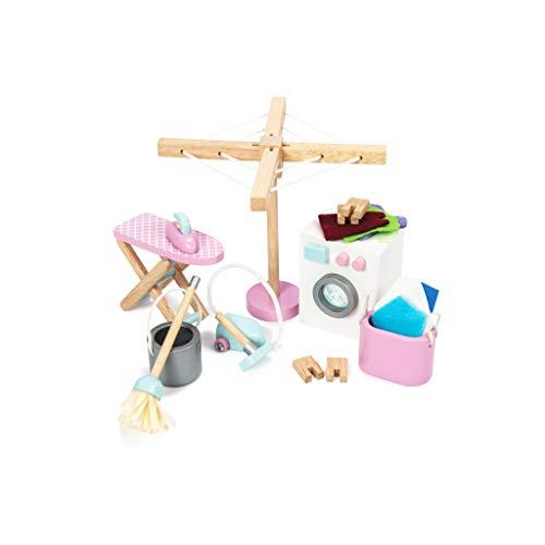 Le Toy Van – Daisylane Waschraum-Zubehörset aus Holz für Puppenhäuser | Puppenhaus-Möbelsets für...