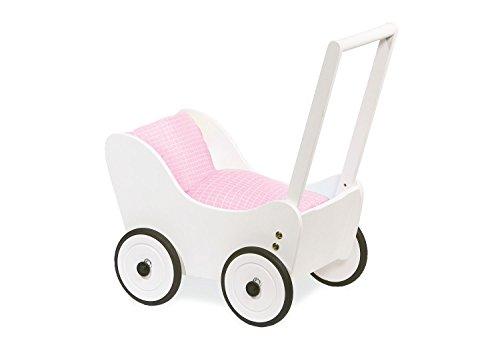 Pinolino Puppenwagen Maria, aus Holz, mit Bremssystem, Lauflernhilfe mit gummierten Holzrädern, für Kinder...