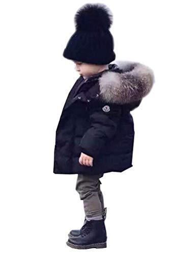Odziezet Baby Daunenjacke Jungen Winterjacke mit Pelzkragen warm Mädchen Daunenmantel Trenchcoat Dick 1-6...