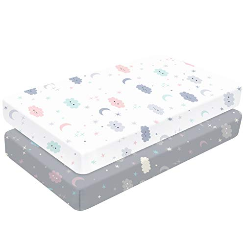 Yoofoss Spannbettlaken 2er Pack Baby Matratzenschoner Spannbetttuch 70x140 cm Bettlaken Betttuch aus...