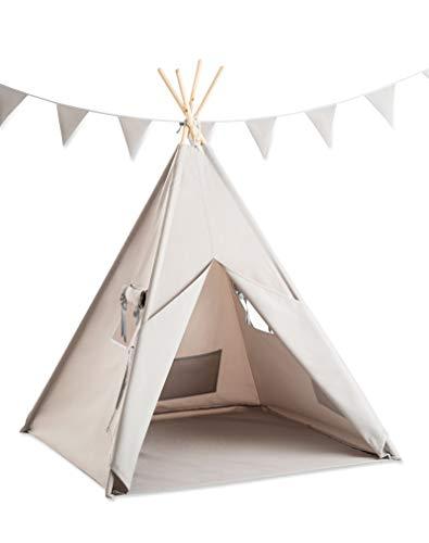 Cozydots - Tipi Zelt für Kinder, Kinderzelt - Wasserdicht Set Indianerzelt für Kinder Outdoor und Indoor -...
