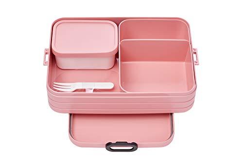 Mepal Bento-Lunchbox Take A Break Nordic pink Large – Brotdose mit Fächern, geeignet für bis zu 8...