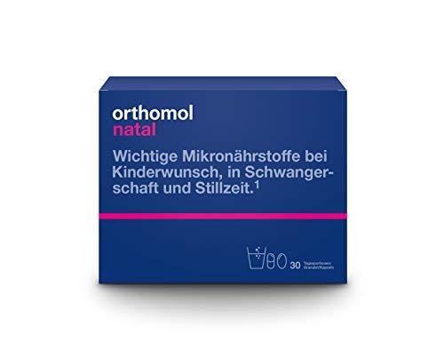 Orthomol natal 30er Granulat& Kapseln - Folsäure Kombi für Frauen mit Kinderwunsch, in der Schwangerschaft &...