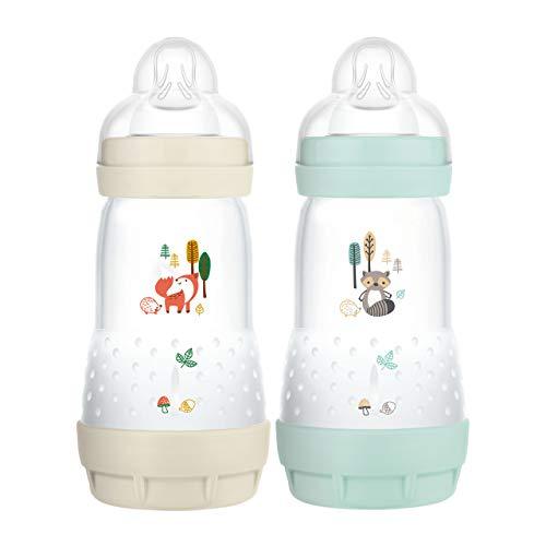 MAM Easy Start Anti-Colic Elements Babyflasche im 2er-Set (260 ml), Milchflasche für die Kombination mit dem...